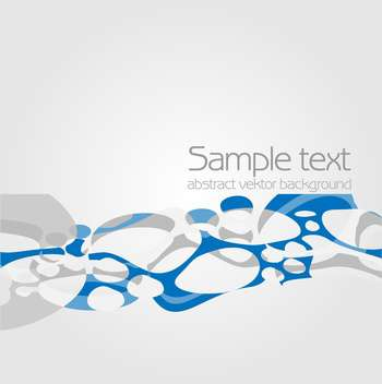Vector blue color abstract background with text place - vector gratuit #127524