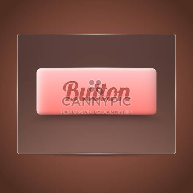 pink color button on brown background - Free vector #127534