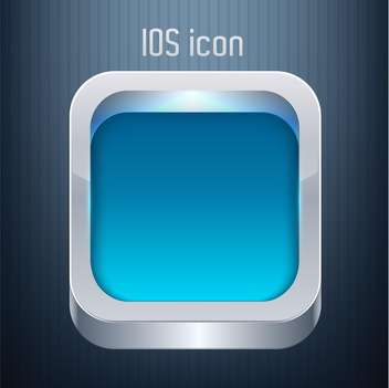 Vector blue square button on dark background - vector gratuit #127554
