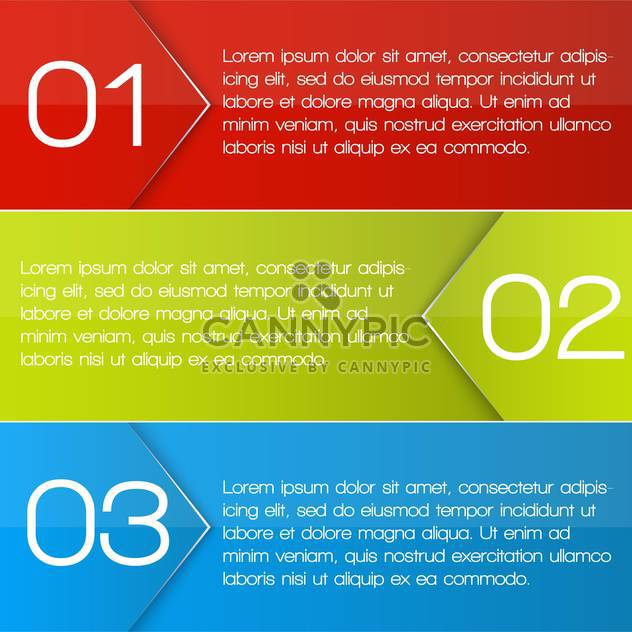 colorful three options banners - Free vector #127634