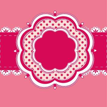 Vector vintage pink frame with text place - Kostenloses vector #127714