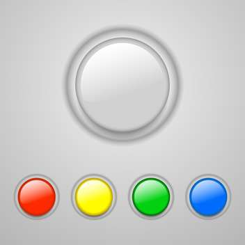 Vector set of colorful buttons on grey background - vector gratuit #127734