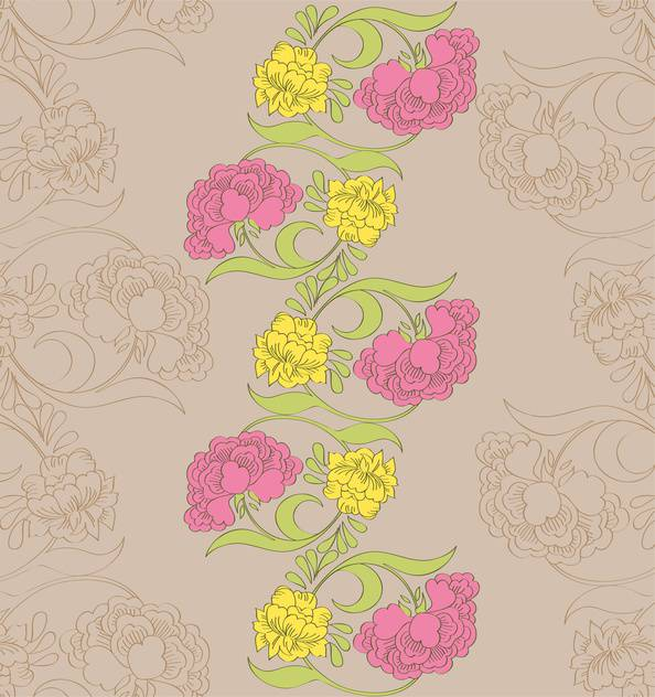Vector floral seamless pattern with fantasy blooming flowers - vector gratuit #127854