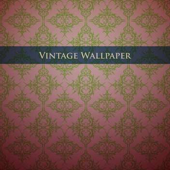 Vintage wallpaper background with floral pattern - vector gratuit #127894