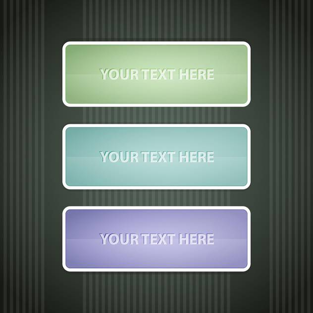 Vector colorful design elements on grey background with text place - vector gratuit #127984
