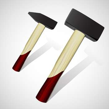 vector illustration of two hammers on white background - vector gratuit #127994