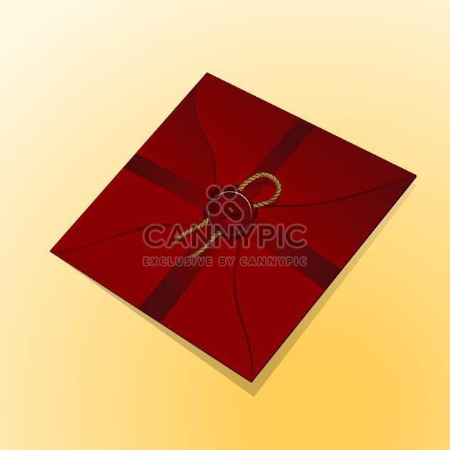 Vintage paper envelope with sealing wax stamp - Free vector #128004