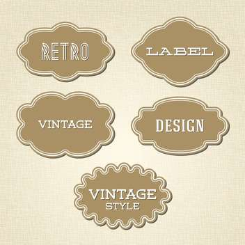 Vector collection of vintage and retro labels - бесплатный vector #128044