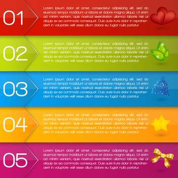 vector set of colorful text box - vector gratuit #128054