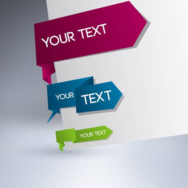 vector set of tag labels with text place - Free vector #128074