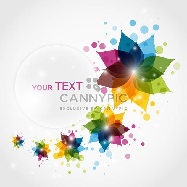 abstract floral background for business artworks with text place - vector gratuit #128104