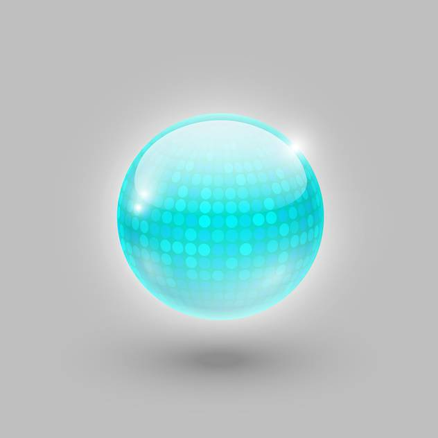 disco ball on grey background - бесплатный vector #128114