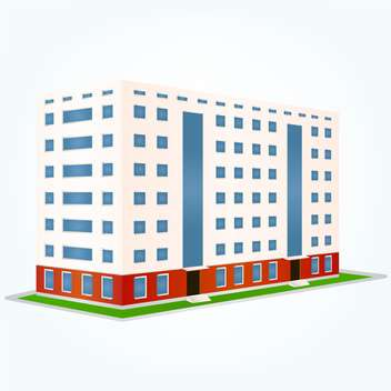 Building vector illustration, isolated on white background - Free vector #128124