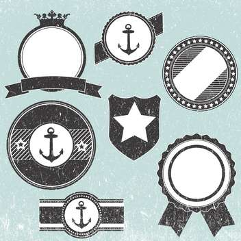 Set with retro vintage badge icons - vector gratuit #128154