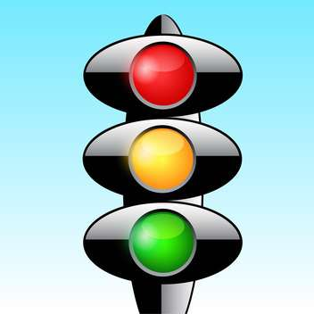 Traffic lights vector icon - vector gratuit #128204