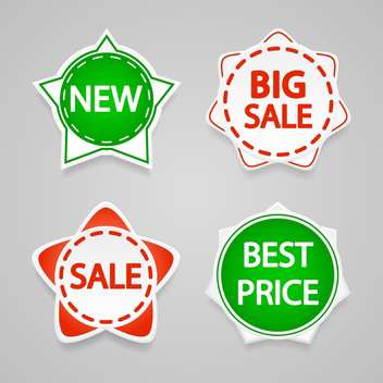 Set with vector sale stickers and labels. - vector gratuit #128214