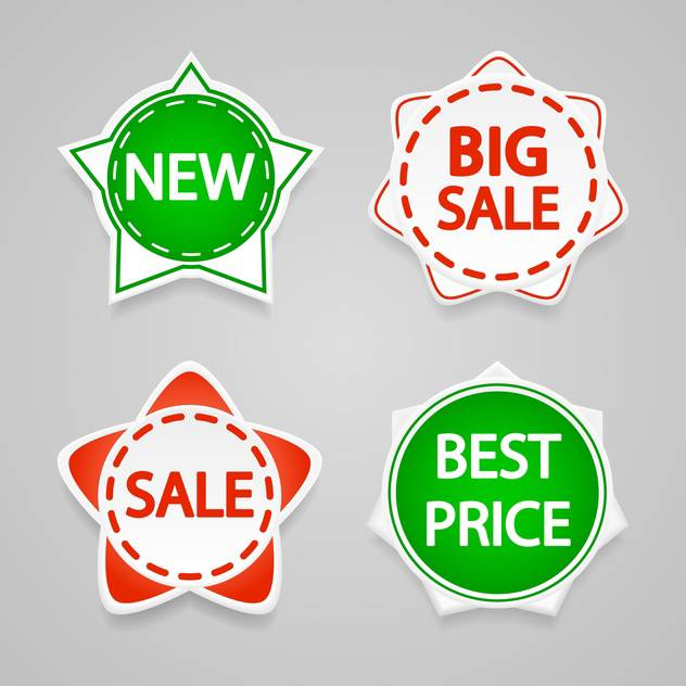 Set with vector sale stickers and labels. - vector #128214 gratis