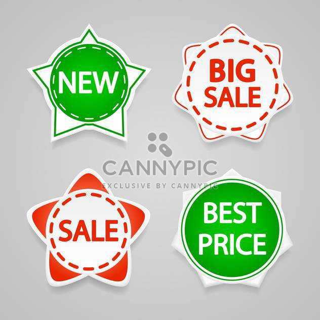 Set with vector sale stickers and labels. - Free vector #128214