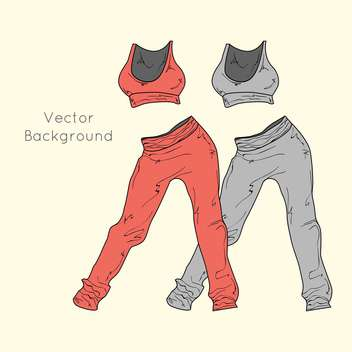 Women's sport clothing vector icons - Free vector #128244