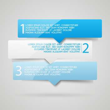 Three numbered web banners background - vector #128274 gratis