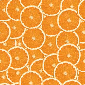 Seamless orange slices background - Free vector #128314