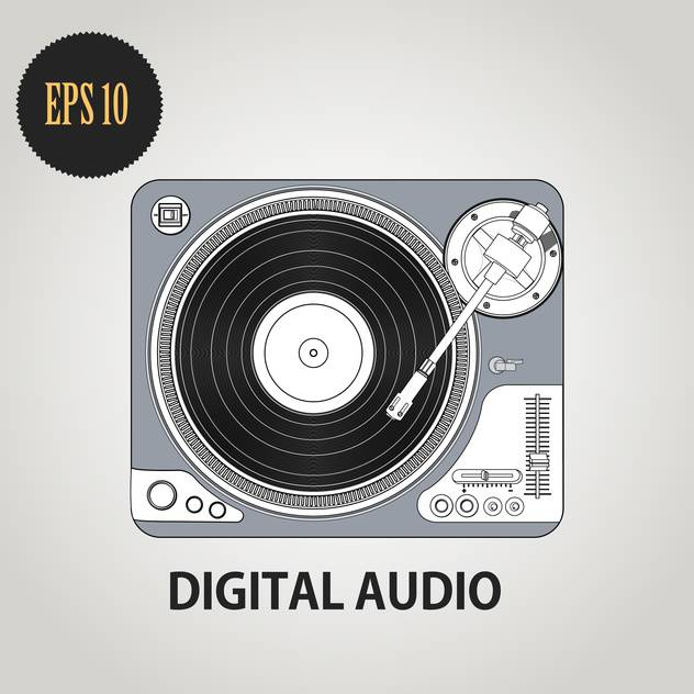 Vector illustration of DJ record player - бесплатный vector #128344
