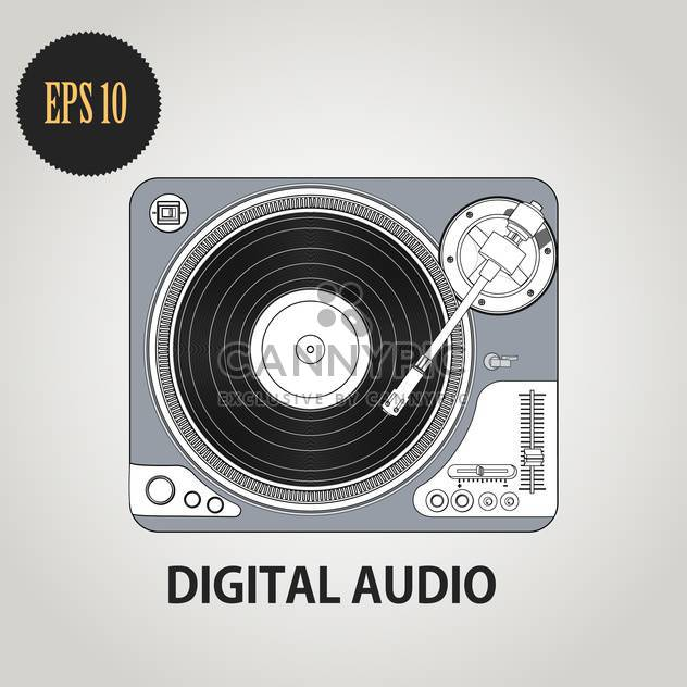 Vector illustration of Dj record player - Free vector #128344
