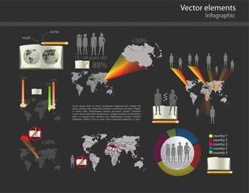 Set with business infographic vector elements - Free vector #128354