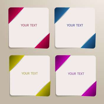 Set of four colorful banners for the text - Free vector #128384