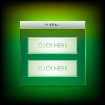 Vector click here buttons - vector gratuit #128404