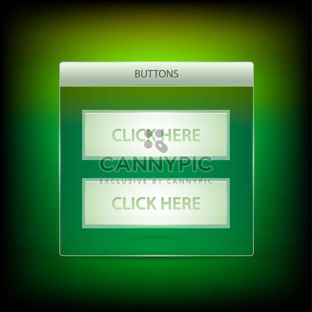 Vector click here buttons - Free vector #128404