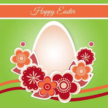 Vector illustration of Happy Easter Card - бесплатный vector #128414