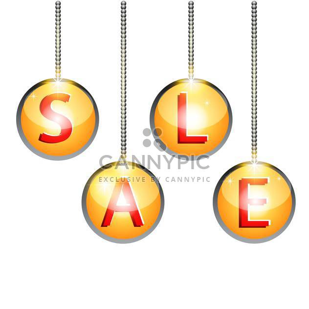 Vector illustration of sale labels - Free vector #128424
