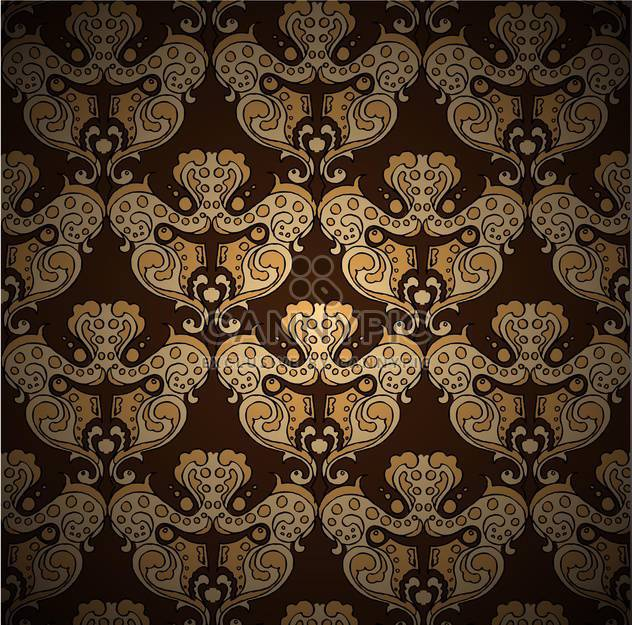 Seamless damask vector pattern - Free vector #128514