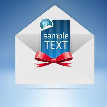 Vector illustration of envelope with invitation card - vector gratuit #128524