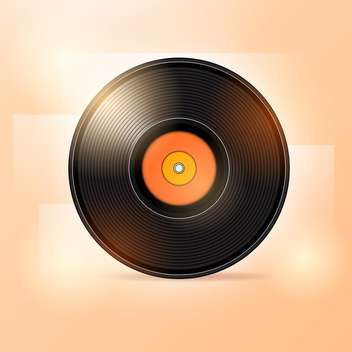 Vector illustration of vinyl disc - vector gratuit #128574