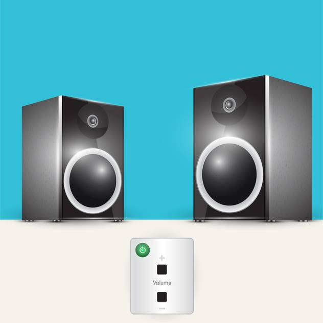 Vector illustration of audio system, music center with remote control - vector #128594 gratis