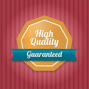 Vector badge with high quality guaranteed text - vector gratuit #128644