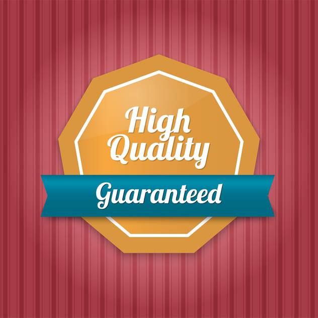 Vector badge with high quality guaranteed text - vector #128644 gratis