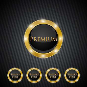 Vector premium quality golden labels - vector gratuit #128694