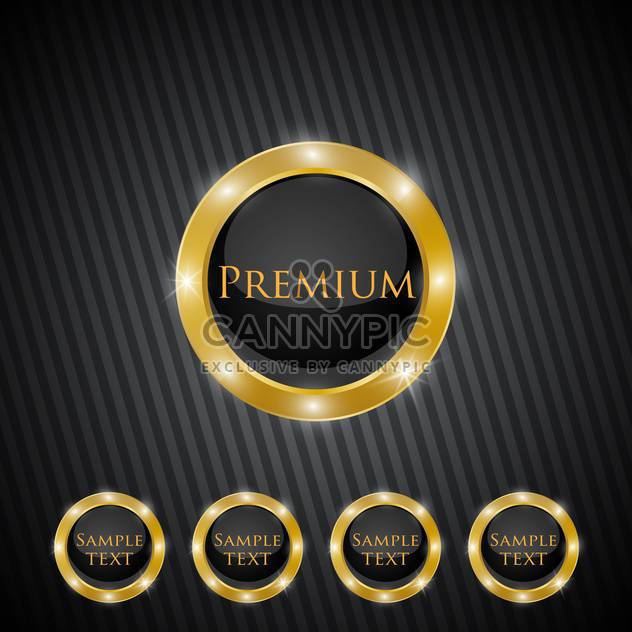 Vector premium quality golden labels - Free vector #128694