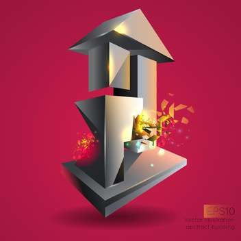 Vector illustration of abstract building. - vector gratuit #128734