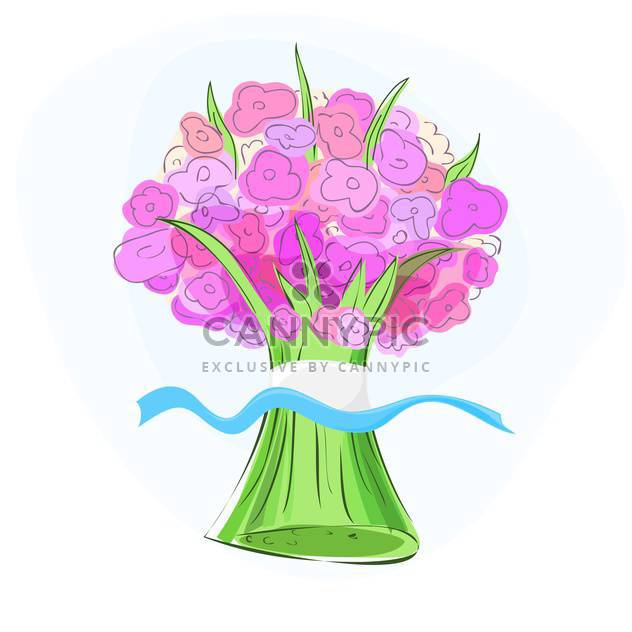 Vector illustration of pink flower bouquet - Free vector #128744