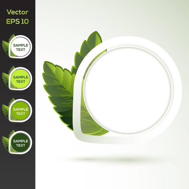 Set of vector round floral banners - Free vector #128774