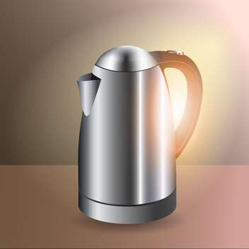 Vector illustration of metallic electric kettle - бесплатный vector #128794