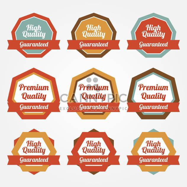 Set of vector sale stickers, badges, labels - Free vector #128804