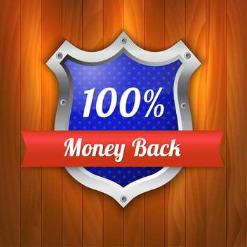 Vector illustration of money back guarantee shield - vector gratuit #128814