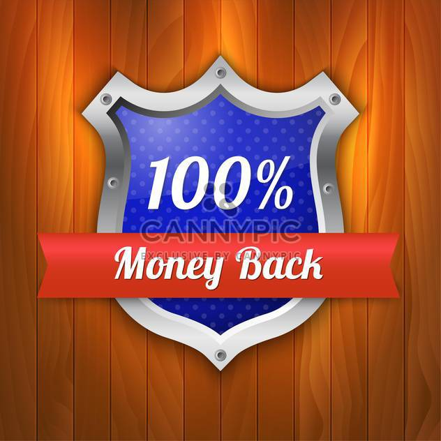 Vector illustration of money back guarantee shield - Free vector #128814