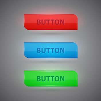 Vector set of colorful buttons on grey background - Kostenloses vector #128834