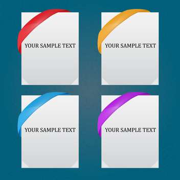 Vector set of templates for design with sample text - Free vector #128844